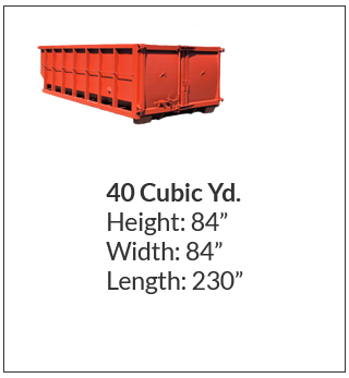 40 cubic yard waste bin