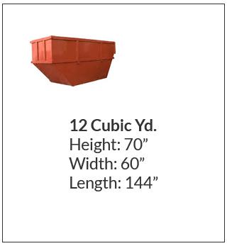 12 cubic yard waste bin