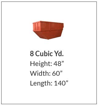 8 cubic yard waste bin